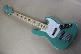 Wholesale High Quality String Electric Bass with Blue Color Body and White Pearl Pickguard and Can be Customized