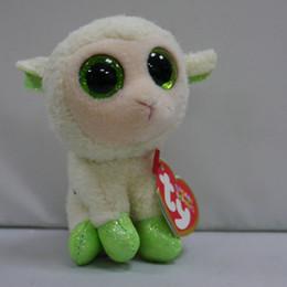Wholesale IN HAND NEW TY BEANIES BASKET SERIES STUFFED ANIMAL BIG EYES Glitter eyes Lala the sheep lamb cm quot Cute Plush doll