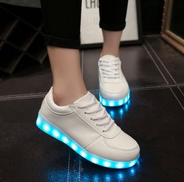 7 Colors luminous shoes unisex led glow shoe men & women fashion USB rechargeable light led shoes for adults led shoes HJIA131