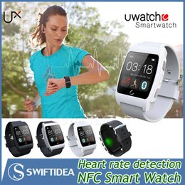 Wholesale 2015 NFC touch Smart watch U watch UX heart rate test bluetooth MTK2501 Compatible with IOS Android OS