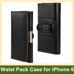 Wholesale Popular PU Leather Waist Holder Pouch Flip Cover Case for Apple iPhone 6 Free Shipping