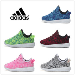 Wholesale Adidas Children s Athletic Shoes For Boys Girls Yeezy Boost Running Shoes Kids Casual Boots Babys Cheap Cute Size C Y Free Shippinp