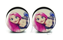 Wholesale 6-25mm gauges 60pcs bag body punk princess ear plug gauges tunnel ear expander ASP0217