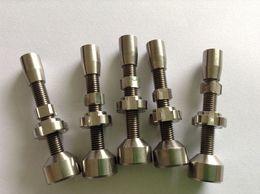 14mm & 18mm double adjustable titanium nail , GR2 titanium nail 2 in 1 TITANIUM NAIL Titanium Domeless Nail Wax Oil ceramic nail quartz nail
