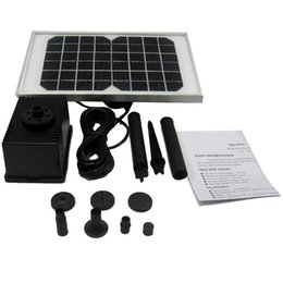Wholesale NEW V W Storage Electric type solar filter Water Pump kit Fountain Pool VB182 W1 SUPS