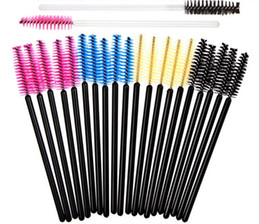 Wholesale 30000pcs mascara wand brush for eyelash extension soft eyebrow brush cm black blue yellow rose red top quality brush factory