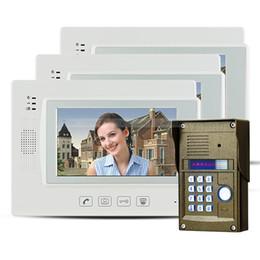 """Clés les mots de passe à vendre-7 """"Touch Key LCD Téléphone visuel de porte Intercom Vidéo Caméra IR Password Lock Night Vision 1V3"""