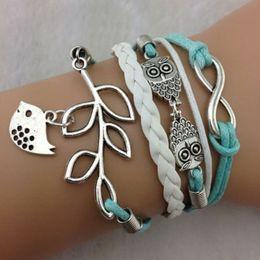 2015 New fashion handmade Frozen Bracelet Night owl bracelet infinity bracelet olive branch wristbands christmas gift