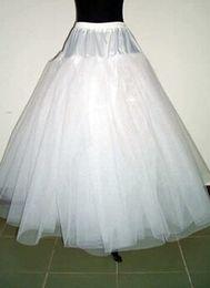 Wholesale Shipping2015In gros Free Stock moins cher A ligne Petticoat nuptiale Accessoires de mariage blanc Confortable Vente en gros Tulle Tissu Hot