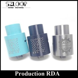 Wholesale Mechanical Production RDA Wide Bore Drip Tip mm Rebuidable Atomizer Clone Peek Insulator Thread DIY Post by Flawless MFG Vapor