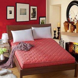 Colchones de colchón en venta-Venta caliente Al por mayor-Nueva llegada cubierta protectora colchón de la cama gruesa suave con colchón relleno / almohadilla topper # 10