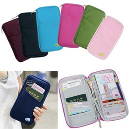 New Multicolor Travel Ticket Documents Folder Passport Package Card Packages Multifunctional Travel Long Pouch Wallet Free Shipping
