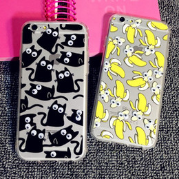 Wholesale TPU Westernstyle Banana Donuts Popcorn French Fries Cat D Rotating Small Eyes Case for iPhone SE s S Plus Free ship MOQ