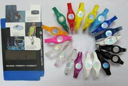 Wholesale New Energy Power Silicone Wristbands Hologram Bracelets Sport Bands