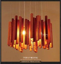 Wholesale 2015 hand made American wood meteor shower pendant light for living room dining room bar restaurant light Dia40cm e27 DY