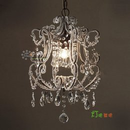 Wholesale French country twig beads beaded vintage Bohemian crystal chandelier bedroom lamp Restaurant lights