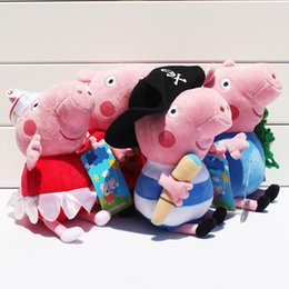 Wholesale Pink Pig Ballerina pig Pirate pig brother Pig Plush Toy Doll styles Small Size cm cm
