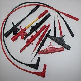 Wholesale 1 M Automobile maintenance industry test tool kids sets AWG Piercing Clip test hook alligator clip Tip probe in sets