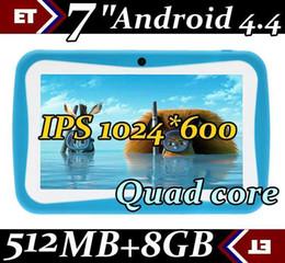 50pcs Kid Educational Tablet PC 7 Inch Screen 7 inch IPS 1024*600px screen Quad core 1.2Ghz 512MB 8GB Dual Camera WIFI Kids Tablet PC TA83