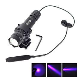 Wholesale WF B UV nm Ultraviolet LED Flashligh Torch Single Mode UV Lamp Urine Money Detector Purple Light Mount Remote Pressure