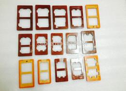 15PCS completo de reparación de pegamento de reparación de LCD de reparación de vidrio exterior molde molde titular para iPhone 4s / 5s / 6 Samsung S3 / S4 / S5 / S6 / S7 pantalla de reparación desde iphone 4s conjunto completo proveedores