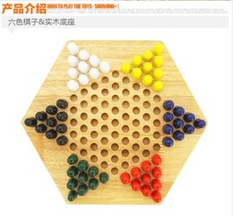 Wholesale Wooden Toys Chinese Checkers Fine Wooden Chessboard Classic Marbles family game set Birthday Gift Kids Developmental Toy Fast Shipping