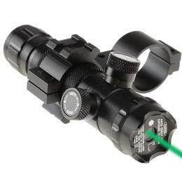 Wholesale New Tactical Green Dot Laser Sight Rifle Scope Switch Picatinny Rail Mounts Set VEB20 W0 SYSR