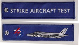 Wholesale Strike Aircraft Test Aircraft Airplane Woven High Quality Key Tag x cm