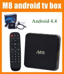 Wholesale M8N M8 K Smart Android IPTV OTT TV BOX GB RAM GB Quad Core Bluetooth Amlogic S802 KODI Fully Loaded Google Play Store Download OTH032