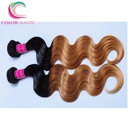 4 Bundles Ombre Brazilian Body Wave Unprocessed Human Hair Weaves 1B 27 Brazilian Virgin Hair Body Wave Bundle Deals