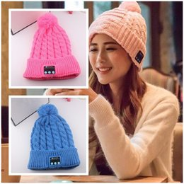 Wholesale Wireless Bluetooth V3 Smart Woolen Knit Beanie Winter Sport Hat Headphone Headset Hands free Music Magic Cap Mp3 Speaker Mic Hot