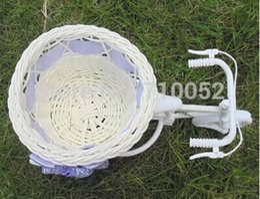 Wholesale Freeshipping in big wheel round basket rattan floats flower vase flowerpots containers small flower bike flower pot
