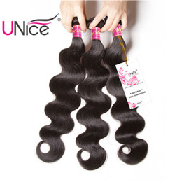 UNice Hair Brazilian Body Wave Hair Bundles 8-30inch Natural Color Human Hair Extensions Non Remy 1Piece