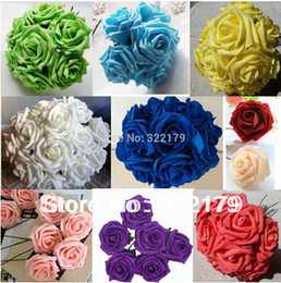Wholesale 100 Artificial Flowers Rose cm Foam Flowers For Bridal Bouquets Wedding Decor Foam Flowers