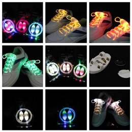 20pcs (10pair) 3rd Gen LED shoelace flashing shoelaces shoe lace laces with Rugby shape Suction card packing free shipping