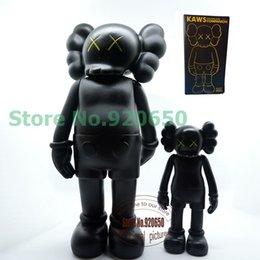 Wholesale 16 inch black kaws original fake black kaws companion medicom toy real picture kaws facotry product