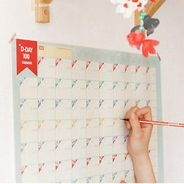 Wholesale New Days Students Digital Format Planner Goals Calendar Schedule Stationery Notes Wall Sticker Paper