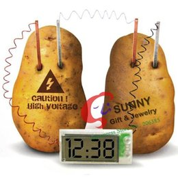 Wholesale Potato Clock Green sicence Clock New Science product Ages Create power by fruit soft drink