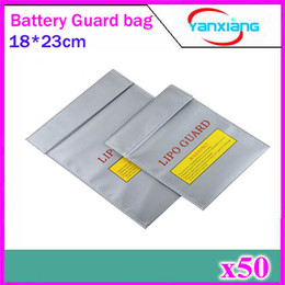 Sacs ignifuges en Ligne-50pcs RC Fireproof Lipo Li-Po batterie de sécurité de garde de charge de sac de sécurité 18 * 23 cm supernova vente ZY-BAJ-01