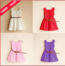 Baby New Flower Girls Dresses Sleveless Back Zip Tea Length A Line Simple Handmade Flower Cheap Little Girls dress DHL free