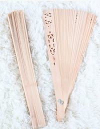 Wholesale Grade wood folding fan sandalwood hollow wooden household goods sector