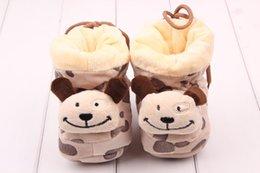 Wholesale Online Shoes Baby Stuff Winter Warm Snow Girl Boy Cotton Baby Anti slip Sock Prewalker Newborn Shoes Baby Photo Props CM M S2130