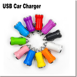 Wholesale Universal V A Mini USB Auto Car Charger Cigarette Lighter Adapter For Iphone Plus S Colors