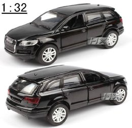 Wholesale Best High quality SUV Q7 alloy model Pull Back Toy car Blue Diecasts toys cars