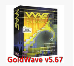 Wholesale GoldWave ENGLISH sound processing tool to convert audio editing software to record player