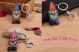 2016 Various Santa Claus Silicon Key Caps Covers Keys Keychain Case Shell Novelty Item Key Accessories Car Keychain Ring
