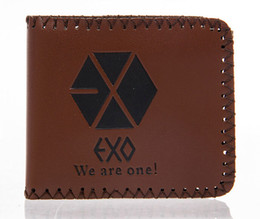 Exports Fashion New mens designer leather luxury purse wallet short EXO wallets for men free shipping