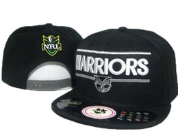 Wholesale 2016 Sports Caps Black Auckland Warriors Snapback Man And Woman afl Snapback Hats baseball Caps fashion Hats hip Hop Caps DD