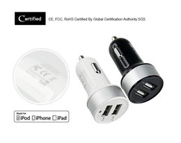 Wholesale High Quality Micro Auto Universal Dual USB Car Charger For iPad iPhone V A Mini Adapter Short Circuit Protection