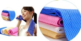 Wholesale Cold cooling Performance towel sports outdoor ice cold scarf scarves Pad neck tie wristband headband Summer beach cooling band gift